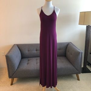 Purple Flow Dress with side slits - Size Small